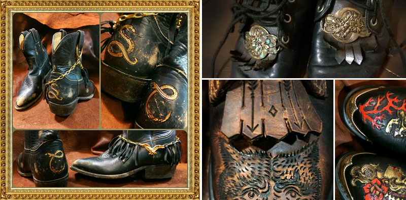 burnmethod, custom, art, tattoo, leather, durango, boots, belts, belt, biker, tattoo