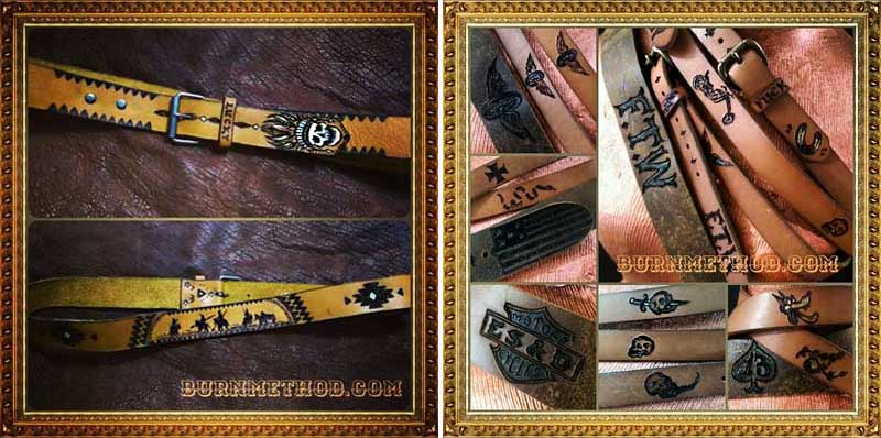 burnmethod, custom, belt, belts, tattoo, biker, skull, usa, harley, harley davidson, native, american, flag, chopper
