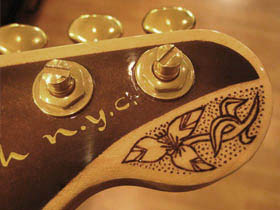 headstock, headstock, embellishment, wood burning, pyrography, burnmethod, guitar