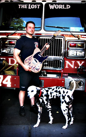 burnmethod, guitar, guitars, pyrography, custom, wood burning, engraved, refinish, tele, telecaster, flame, fire, hotrod, fireman, dalmation, fire truck