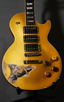 burnmethod, guitar, guitars, pyrography, custom, wood burning, engraved, refinish, gibson, goldtop, altered, nose art, pin up, girl, bottle cap, pinup