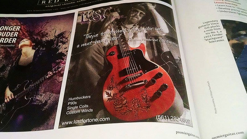 Hey, we're in a premier guitar magazine ad