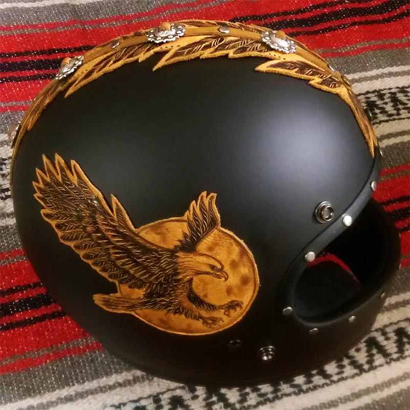burnmethod_leather_ art_biltwell_motorcycle_helmet_harley_davidson_indian_larry_ald_charity